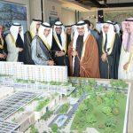 Al-Nafisi and Al-Nahedh during the inaugural ceremony of Marassi Al Bahrain