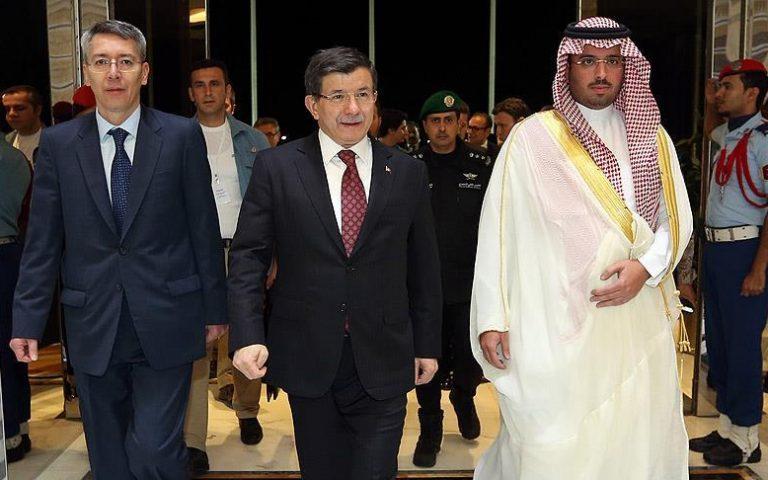 لقاء بين  داوود أوغلو والمستثمريين السعوديين