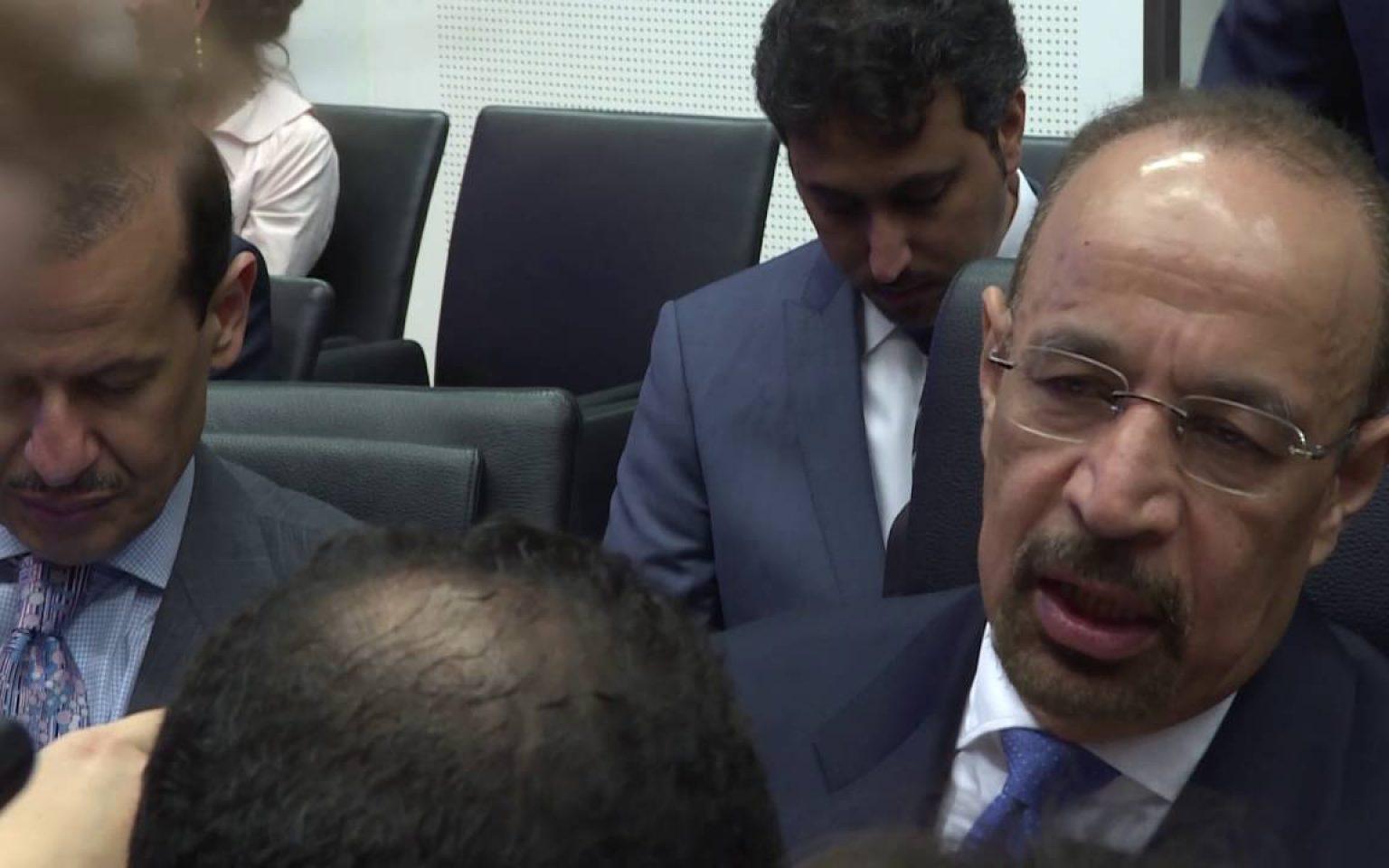 Saudi Energy Minister Khalid Al-Falih at June 2016 OPEC Meeting
