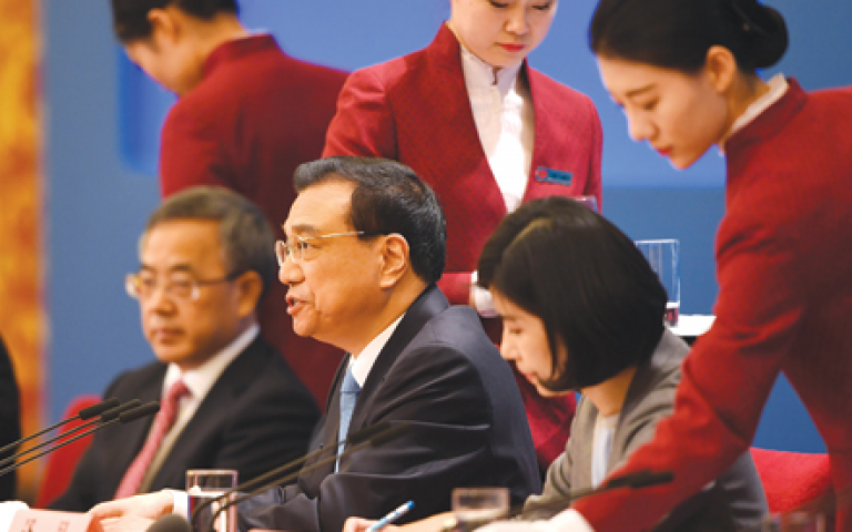 China's premier seeks to allay fears over global trade war