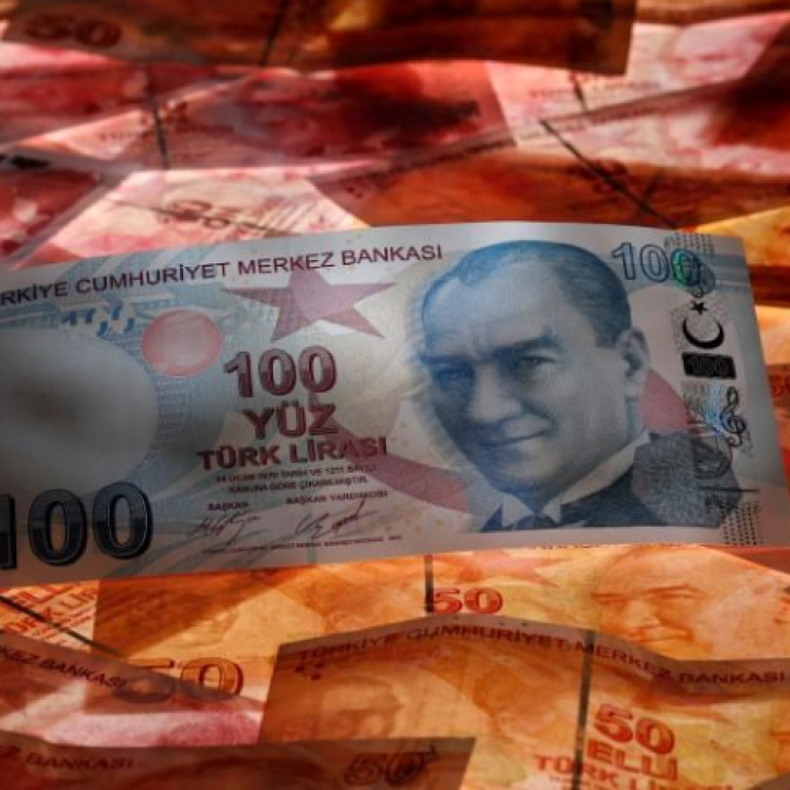 Turkish lira slides nearly 5% against the dollar