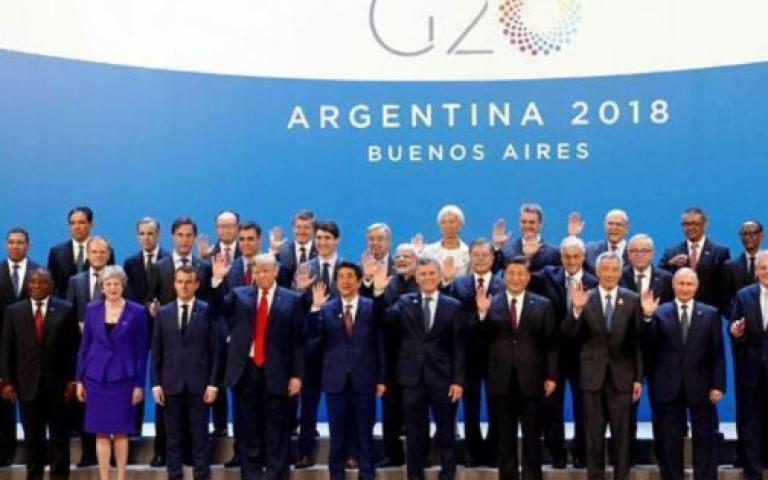 البيان الختامي لقادة مجموعة العشرين بشأن الإقتصاد العالمي